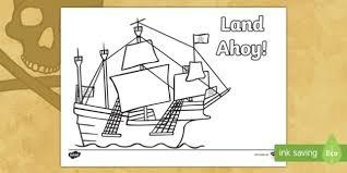 land ahoy pirate ship colouring pirate ahoy jolly