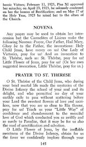 Prayer To St Therese The Little Flower - novena to the little flower commentaries notes considerations