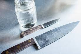 high carbon kitchen knives how to a patina on carbon steel knives