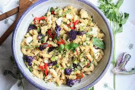 What Is Pasta Salad Fresh Basil And Roasted Cauliflower Pasta Salad Abra U0027s Kitchen