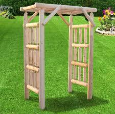 Log Outdoor Furniture by Amish Log Arbors Hearthside Log Arbor Handmade Patio Furniture