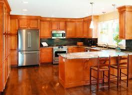 Stove On Kitchen Island L Shape Brown Wooden Cabinet With Storage Also Combined With