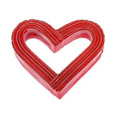 heart handmade tabletop home decor ornament glossy red love gift