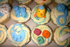 the heavenly cake boutique boy baby shower theme cupcakes