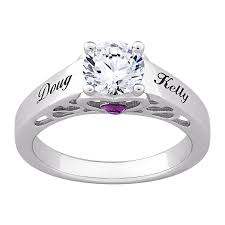 vintage promise rings secret expressions sterling silver name birthstone cz