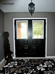 after new window inserts w blinds painted hardware black