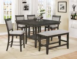 crown mark 2727gy 6pc 6 pc fulton collection grey wood finish