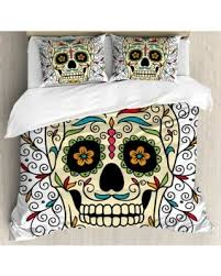 Amazing Deal on Sugar Skull Decor Queen Size Duvet Cover Set