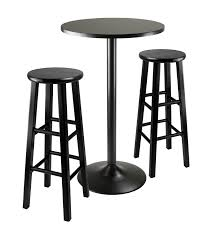 Black Bar Table Obsidian 3 Black Pub Table Set Ojcommerce