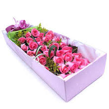 Roses In A Box Filipinas Gifts 36 Pcs Pink Roses In A Beautiful Box