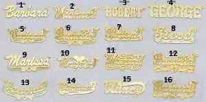 14 karat gold nameplate necklaces 14k gold name plate ebay