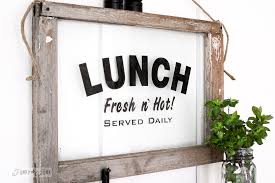 lunch with an window and how to stencil on glassfunky