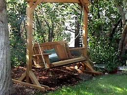 Wood Patio Furniture Sets Patio Wooden Patio Swing Home Designs Ideas
