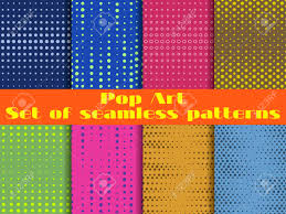 blue pattern background html dotted pop art seamless pattern background set vector illustration