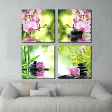 articles with burgundy kitchen wall art tag burgundy wall art 4 panel wall art botanical green feng shui orchid oil painting on canvas quartz crystal abstract