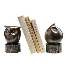 wide eyed owl bookends amazon ca home u0026 kitchen