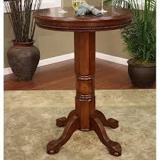 Turned Pedestal Bistro Table La Rosa Pub Table Round Top Pedestal Base Suede Finish Dcg