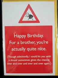 hilarious fun rude joke brother birthday cards humour cheeky