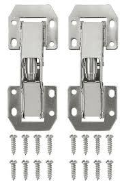 kitchen cupboard door hinge repair kit b q b q nickel plated metal sprung door hinge l 106mm pack of 2