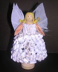 christmas creative quilled 3d angel