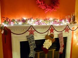holiday mantel decorations christmas lights decoration