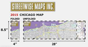 Map Metro Chicago by Streetwise Chicago Map Laminated City Center Street Map Of