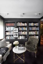 living room black and white striped bookcase airmaxtn