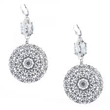 filigree earrings popesco large silver filigree earrings with oval