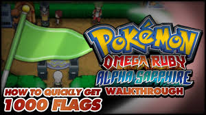 Flags In Pokémon Omega Ruby And Alpha Sapphire Walkthrough Secret Bases