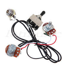 2 sets 3 way toggle switch electric guitar wiring harness 2 volume