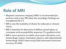 Role Of Brain Stem Role Of Mri In Traumatic Brain Injury
