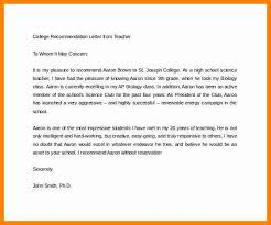 College Letter Of Recommendation From 8 College Letter Of Recommendation How To Make A Cv