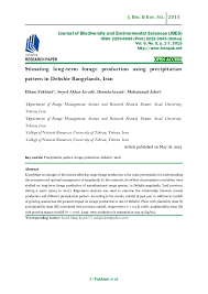 net paper pattern 2015 stimating long term forage production using precipitation pattern in
