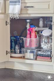 How To Make A Lazy Susan For A Kitchen Cabinet Organization For Under The Kitchen Sink Kelley Nan
