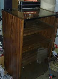 vintage stereo cabinet with glass doors photo 556449 us audio mart