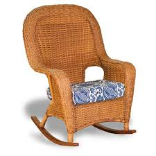 Outdoor Rocking Chair Cushion Sets Tortuga Outdoor Lexington Wicker 3 Piece Rocker And Side Table Set
