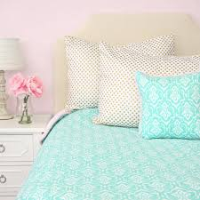 Damask Bedding Delilah U0027s Pink And Aqua Damask Duvet Cover Caden Lane