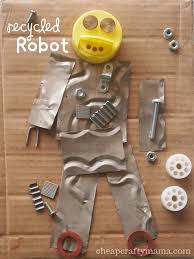 recycled robot fun project to celebrate earth day robots