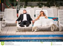 after wedding and groom relaxing after wedding stock photo image of