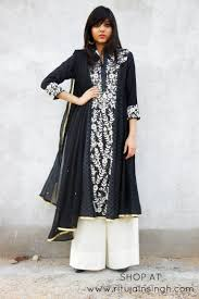 indian wedding dress shopping black and white contemporary indian wear shop at