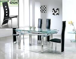 Black Glass Extending Dining Table Extendable Glass Dining Table Sets Glass Extendable Extending