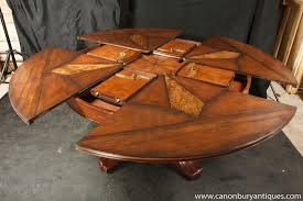 expanding circular dining table dorset custom furniture a woodworkers photo journal a trendy