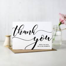 personalised thank you cards notonthehighstreet