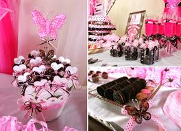 baby shower themes girl pink and brown butterfly baby girl shower ideas baby shower