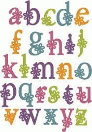 printable bubble letters flower letters small flower bubble