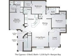 three bedroom floor plans 3 bedroom apartment floor plans pricing banyan bay