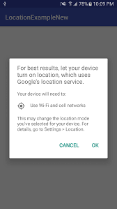 enable location services android get you last known location current location using