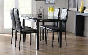 Black Glass Dining Room Sets Dining Room Table Best Modern Glass Dining Table Set Glass