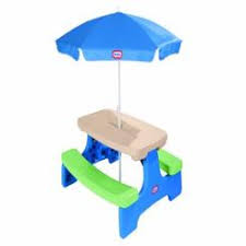 little tikes easy store picnic table little tikes fold n store picnic table with umbrella