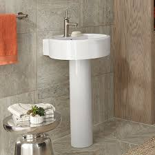 Pedestal Bathroom Sink by Pedestal Sink Seagram 20 Inch Round Pedestal Lavatory By Dxv